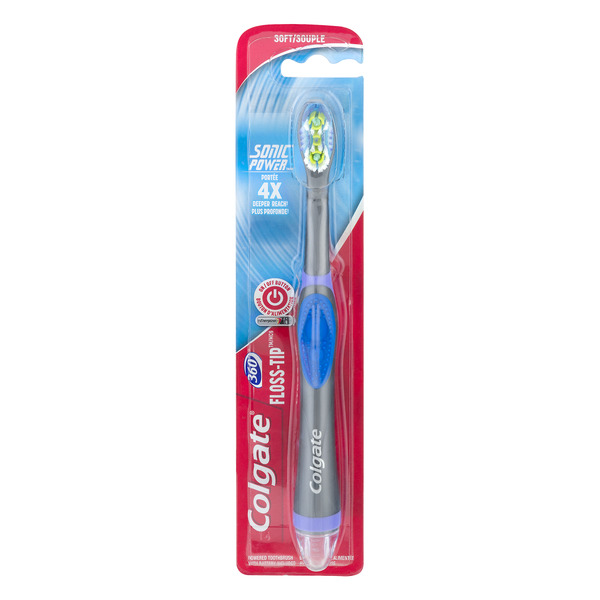 Colgate 360 Degree Floss-Tip Sonic Powered Toothbrush Soft