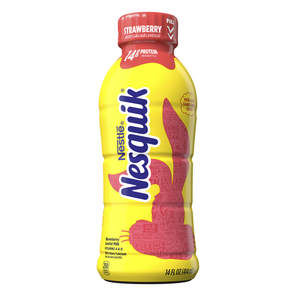 Nestle Nesquik Low Fat Strawberry Milk