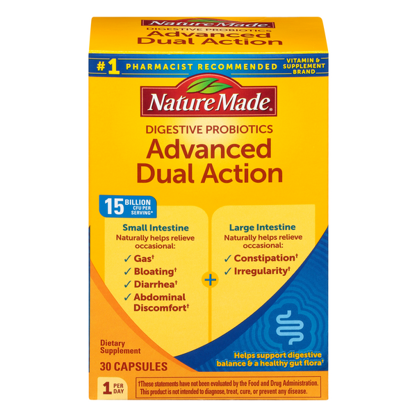 Nature Made Solutions Digestive Probiotics Advanced Dual Action Capsules