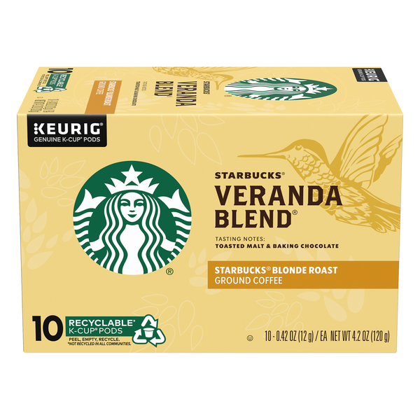 Starbucks Veranda Blend Blonde Roast Coffee K-Cups