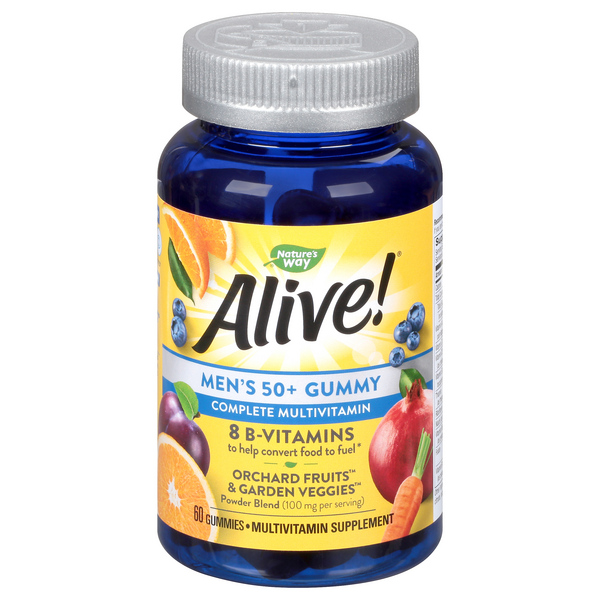 Nature's Way Alive! Men's 50+ Complete Multivitamin Gummies