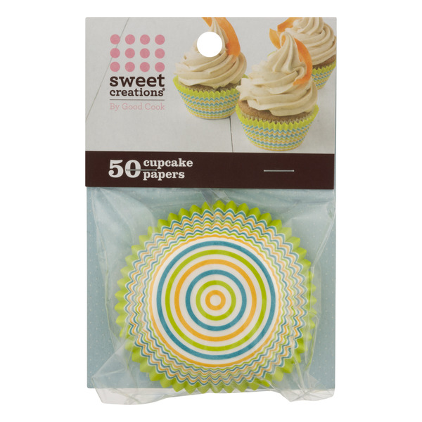 Sweet Creations Cupcake Papers Blue & Green Swirls
