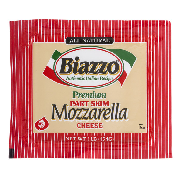 Biazzo Mozzarella Cheese Premium Part Skim