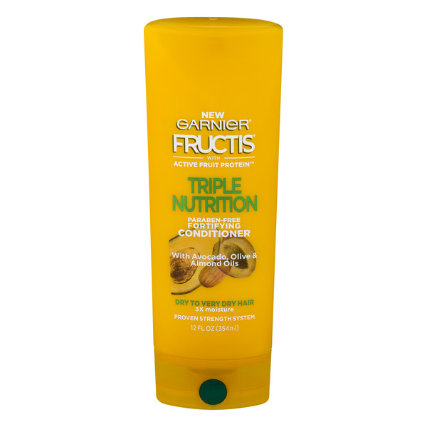 Garnier Fructis Fortifying Cream Conditioner Triple Nutrition 3x Moisture