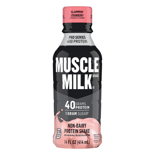 Muscle Milk Pro Series Protein Shake Non Dairy Slammin' Strawberry