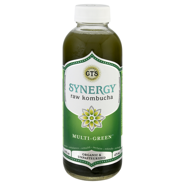 GT's Synergy raw kombucha Multi-Green Organic