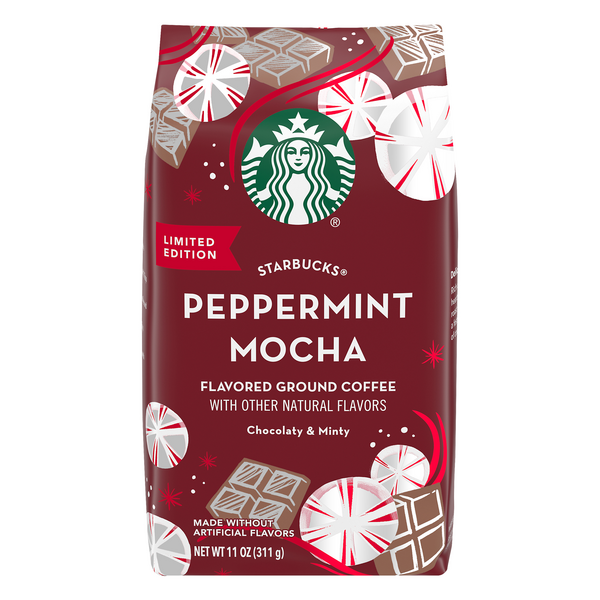 Starbucks Peppermint Mocha Flavored Coffee (Ground)