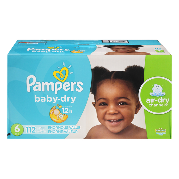 Pampers Baby Dry Size 6 Diapers 35+ lbs