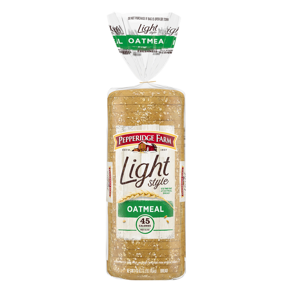 Pepperidge Farm Light Style Oatmeal Bread 45 Calories