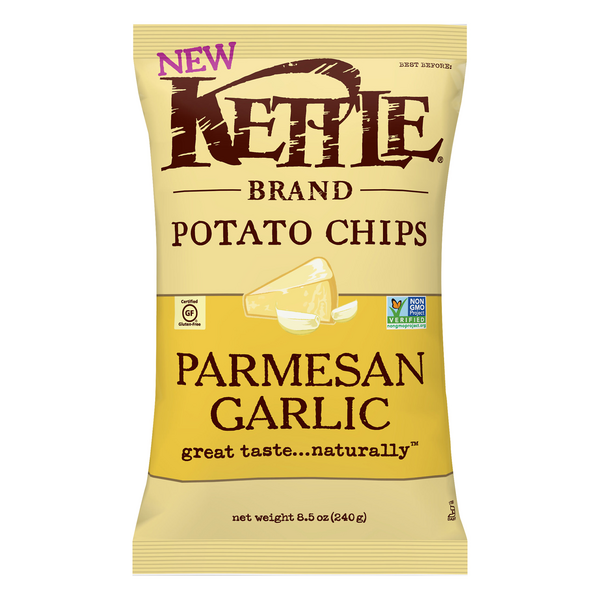 Kettle Brand Potato Chips Parmesan Garlic Gluten Free