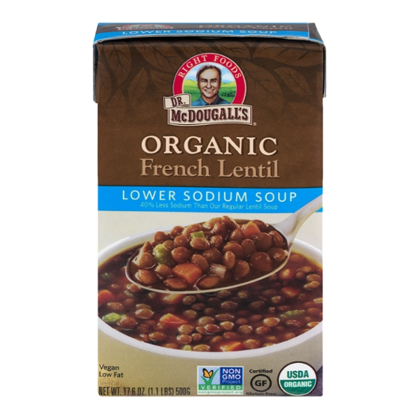 Dr. McDougall's Right Foods French Lentil Soup Lower Sodium Organic