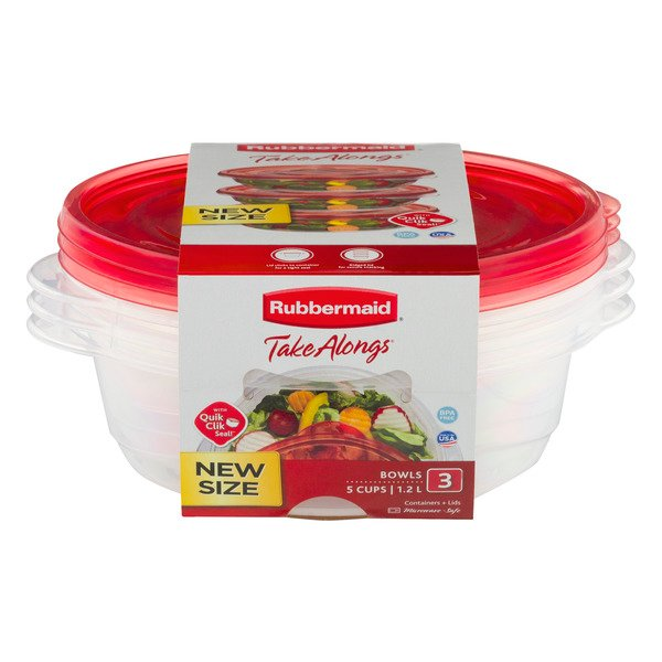 Rubbermaid TakeAlongs Containers + Lids - 3 ct