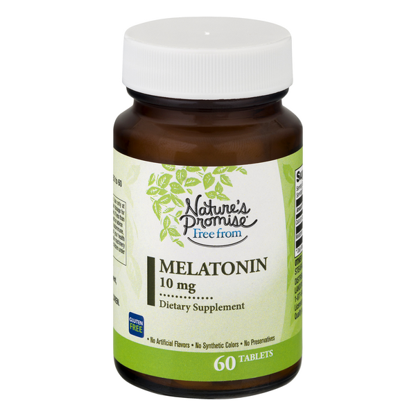 Nature's Promise Free from Melatonin Dietary Supplement 10 mg Tablets
