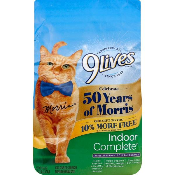 9Lives Indoor Complete Adult Dry Cat Food Chicken & Salmon