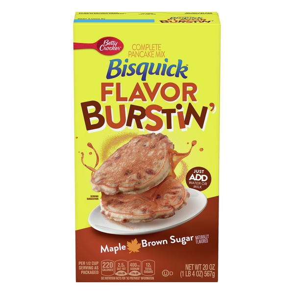 Bisquick Flavor Burstin' Complete Pancake Mix Maple Brown Sugar