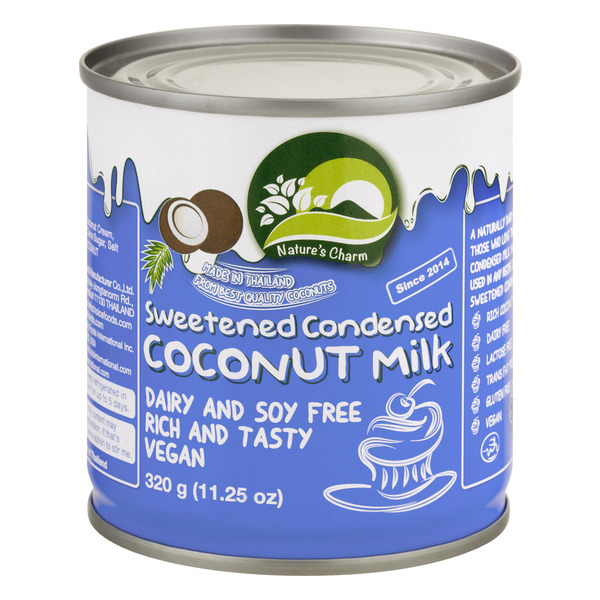 Nature's Charm Sweetened Condensed Coconut Milk Dairy and Soy Free