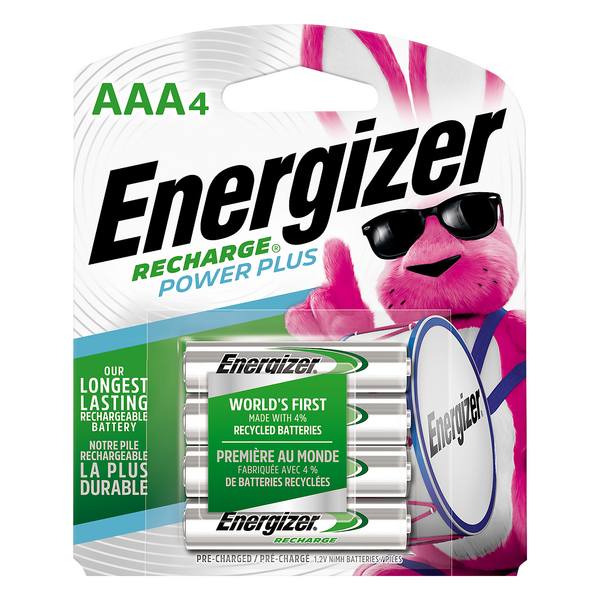 Energizer Rechargeable Batteries Size AAA4