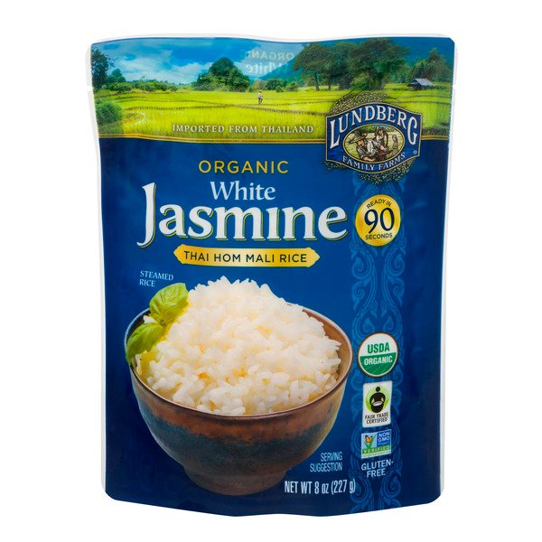 Lundberg Family Farms Organic Jasmine Thai Hom Mali Rice White