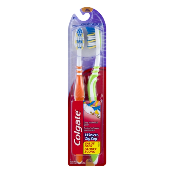 Colgate Wave Toothbrush Full Head Soft #251 Value Pack