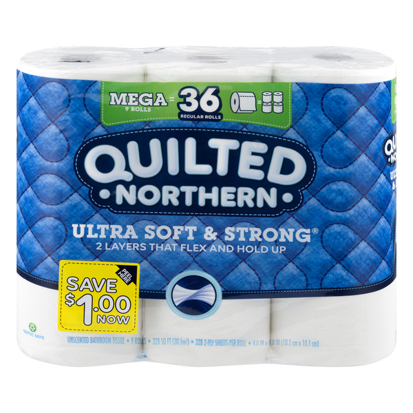 Quilted Northern Ultra Soft & Strong Bathroom Tissue Unscented
