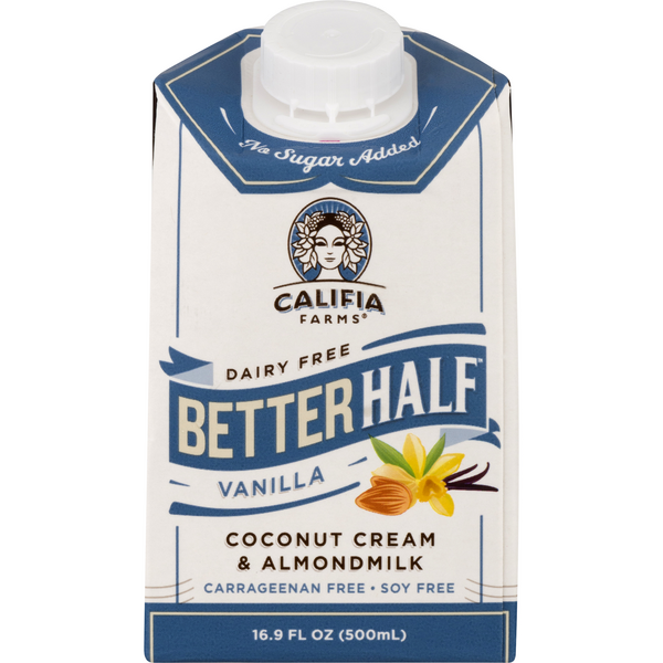 Califia Farms Better Half Dairy Free Coconut Cream & Almond Milk Vanilla