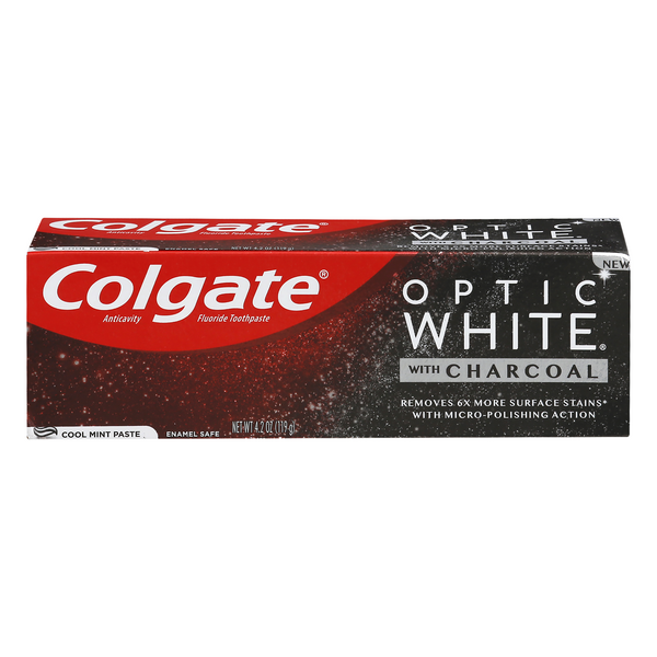 Colgate Optic White Toothpaste Cool Mint with Charcoal