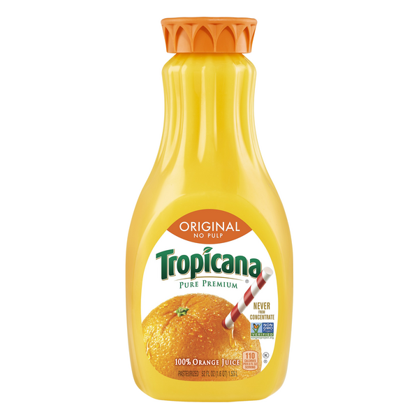 Tropicana Pure Premium 100% Orange Juice Original No Pulp