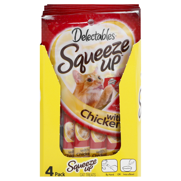 Hartz Delectables Squeeze Up Treats for Cats with Chicken - 4 ct