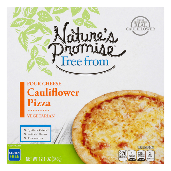 Nature's Promise Free from Vegetarian Pizza Cauliflower Four Cheese