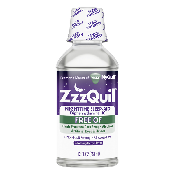 Vicks ZZZQuil Nighttime Sleep-Aid Soothing Mango Berry