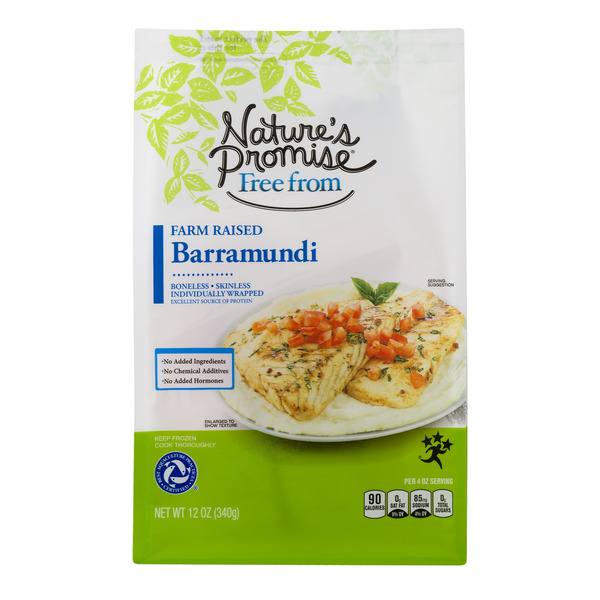 Nature's Promise Free from Barramundi Portions Farm-Raised - 2 ct Frozen