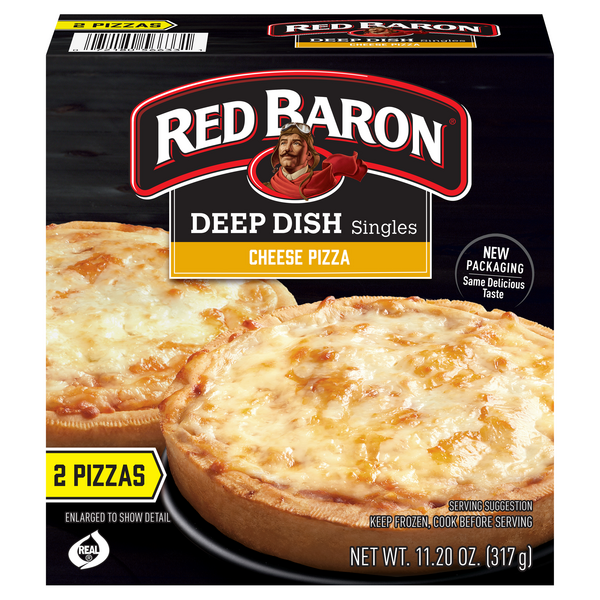 Red Baron Singles Deep Dish Pizza Cheese - 2 ct