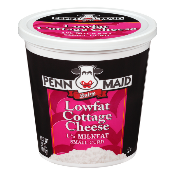 Penn Maid Cottage Cheese Small Curd Low Fat 1% Milkfat