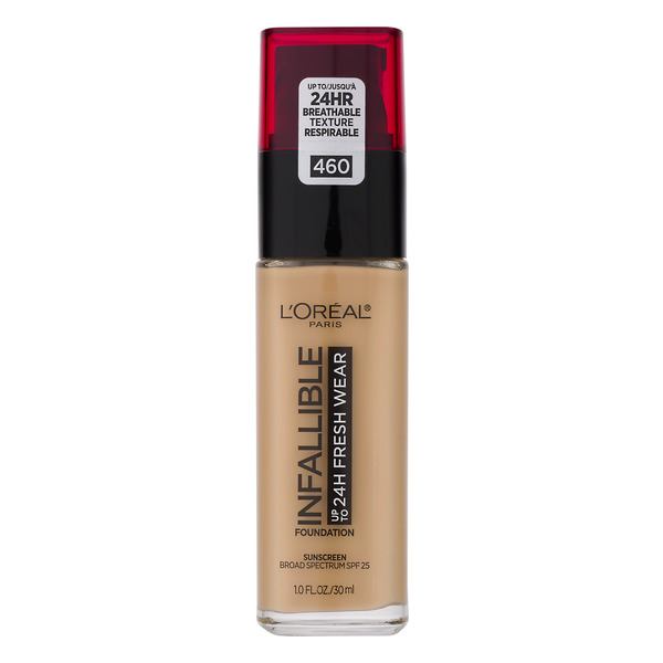 L'Oreal INFALLIBLE up to 24H Fresh Wear Foundation Golden Beige 460