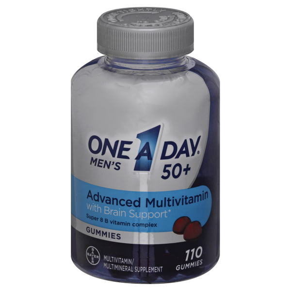 One A Day Men's 50+ Advanced Multivitamin Gummies