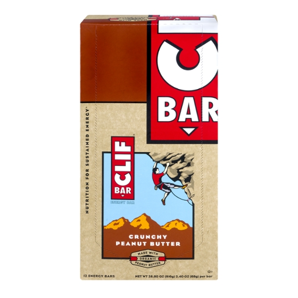 Clif Energy Bars Crunchy Peanut Butter - 12 ct