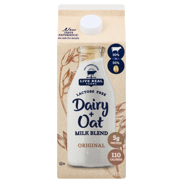 Live Real Farms Dairy + Oat Milk Blend Original Lactose Free