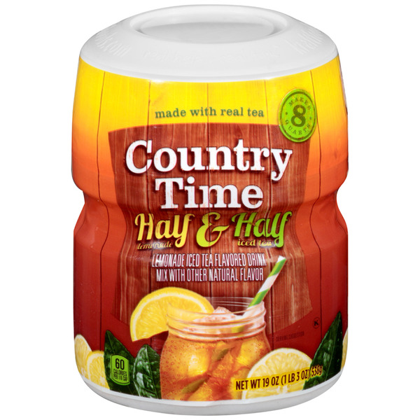 Country Time Drink Mix Half Lemonade & Half Iced Tea Sugar Sweetened