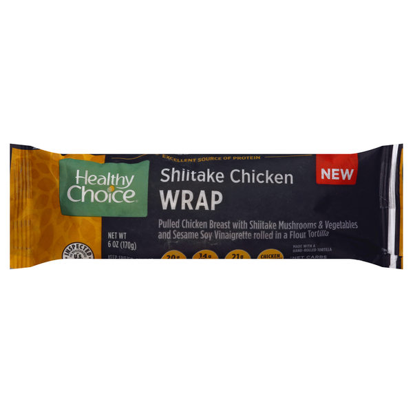 Healthy Choice Power Wrap Shitake Chicken