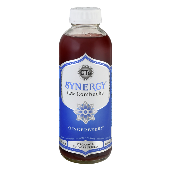 GT's Synergy Raw Kombucha Gingerberry Organic
