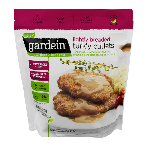 Gardein Lightly Breaded Turk'y Cutlets with 2 Gravy Packs - 4 ct
