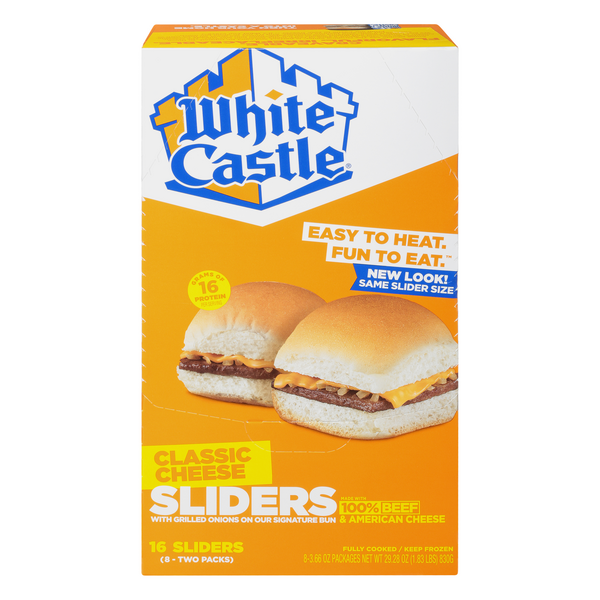 White Castle Cheeseburgers Sliders - 16 ct