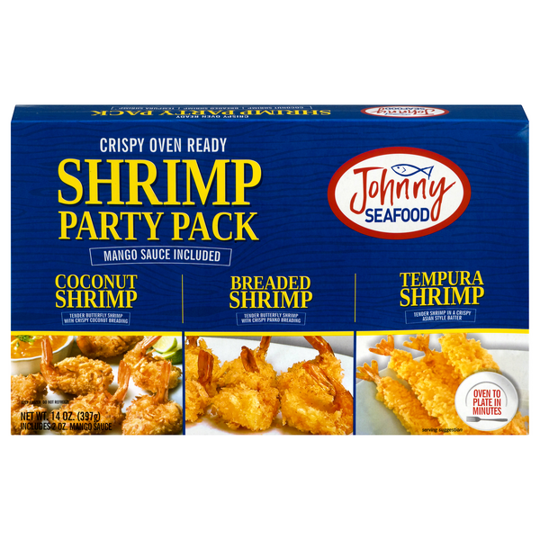 Johnny Seafood Party Tray Oven Ready Breaded Shrimp