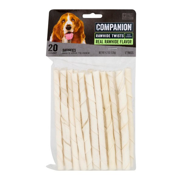 Companion Essentials Rawhide Twists Natural Flavor