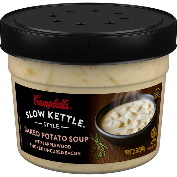 Campbell's Slow Kettle Style Soup Baked Potato Soup With Applewood Bacon