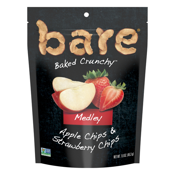 Bare Medley Baked Crunchy Apple & Strawberry Chips