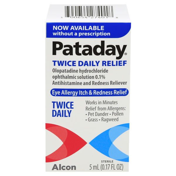 Pataday Twice Daily Relief Eye Allergy Itch & Redness Relief