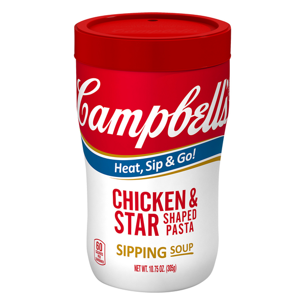 Campbell's Sipping Soup Chicken & Star Shaped Pasta