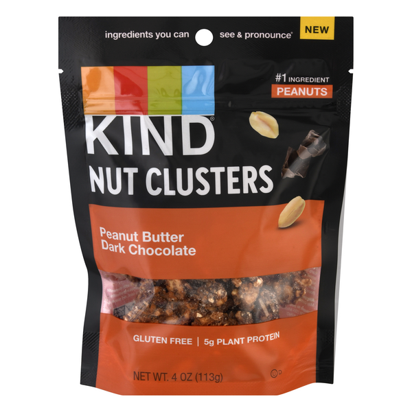 KIND Nut Clusters Peanut Butter Dark Chocolate Gluten Free