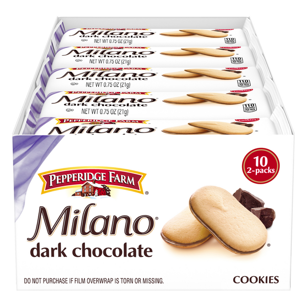 Pepperidge Farm Milano Cookies Dark Chocolate 2 ea - 10 ct